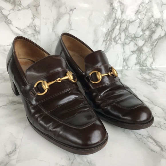 ab751aea256 Gucci Shoes - Gucci Women Loafers Brown Leather Horse Bit Sz 8.5